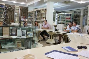 The first meeting takes place in the Book Museum of the Law Acamedy